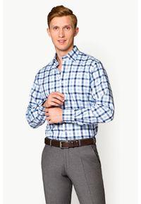 Lancerto - Koszula Mixkolor w Kratę Alma. Materiał: wełna, bawełna. Wzór: kratka, ze splotem, haft. Styl: elegancki