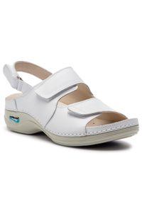 Białe sandały Nursing Care
