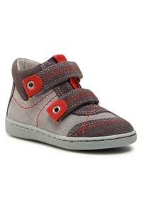 RenBut - Sneakersy RENBUT - 13-040 Popiel. Kolor: szary. Materiał: skóra, zamsz. Szerokość cholewki: normalna. Sezon: zima