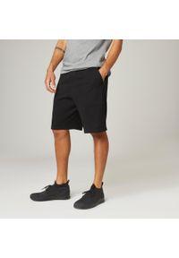 NYAMBA - Spodenki fitness long. Kolor: czarny. Materiał: poliester, bawełna, materiał. Wzór: ze splotem. Sport: fitness