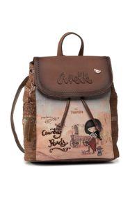 Anekke - Plecak ANEKKE - Arizona AN30705-05ARC Brązowy Kolorowy. Kolor: brązowy. Materiał: skóra. Wzór: kolorowy