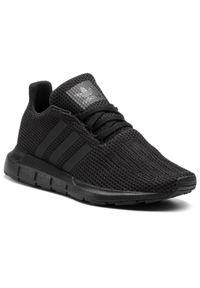Adidas - Buty adidas - Swift Run J F34314 Cblack/Cblack/Cblack. Okazja: na uczelnię, na co dzień. Kolor: czarny. Materiał: materiał. Szerokość cholewki: normalna. Styl: casual