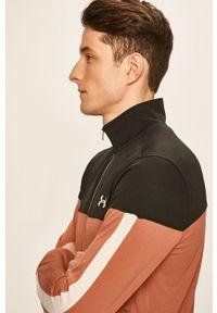 Brązowa bluza rozpinana Under Armour na co dzień, casualowa, w kolorowe wzory, bez kaptura