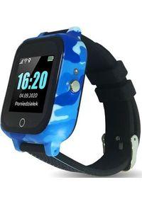 Smartwatch CALMEAN Care Czarno-niebieski. Rodzaj zegarka: smartwatch. Kolor: wielokolorowy, niebieski, czarny