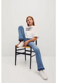 Niebieskie jeansy Mango Kids z podwyższonym stanem