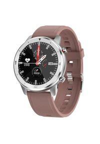 Brązowy zegarek GARETT smartwatch, wakacyjny