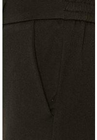 Czarne spodnie materiałowe Vero Moda na co dzień, casualowe