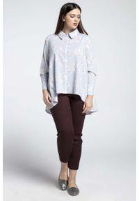 Koszula Nommo plus size, elegancka, z asymetrycznym kołnierzem