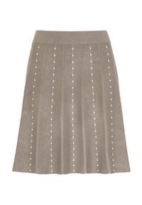 Brązowa spódnica Freequent melanż, elegancka