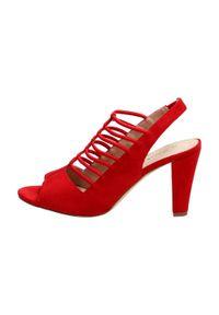 Czerwone sandały S.Barski klasyczne