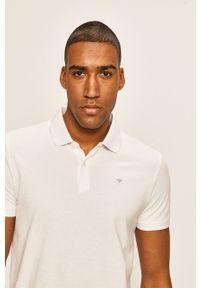 Biała koszulka polo Tom Tailor Denim krótka, polo, na co dzień