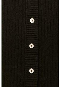 Czarny sweter rozpinany medicine na co dzień, z długim rękawem