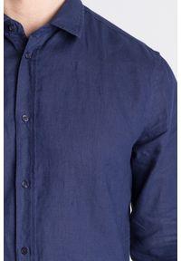 Niebieska koszula Trussardi Jeans na co dzień, na lato