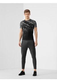 4f - Spodnie treningowe męskie. Kolor: szary. Materiał: włókno, dzianina. Sport: fitness