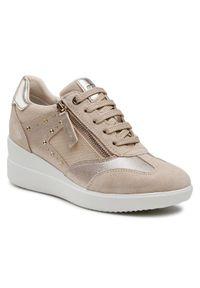 Geox Sneakersy D Stardust B D1530B 02210 C5000 Beżowy. Kolor: beżowy