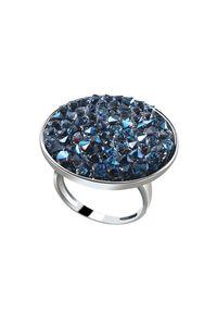 Srebrny pierścionek Polcarat Design z kryształem, srebrny