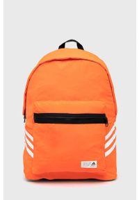 adidas Performance - Plecak. Kolor: pomarańczowy. Materiał: poliester. Wzór: aplikacja