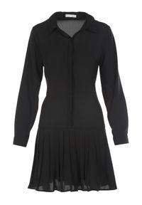 Born2be - Czarna Sukienka Misite. Okazja: na imprezę. Kolor: czarny. Długość rękawa: długi rękaw. Wzór: aplikacja. Sezon: lato, wiosna. Typ sukienki: koszulowe. Długość: mini