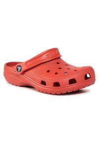 Czerwone klapki Crocs casualowe, na co dzień