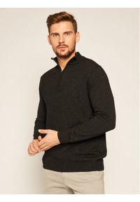 Szary sweter klasyczny Oscar Jacobson