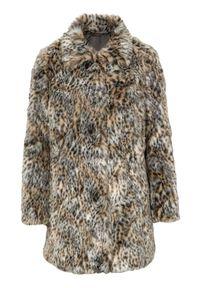Cellbes Płaszcz ze sztucznego futra we wzory female ze wzorem 34/36. Materiał: futro. Styl: elegancki