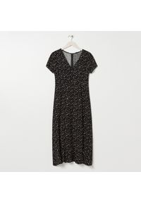 Czarna sukienka Sinsay midi