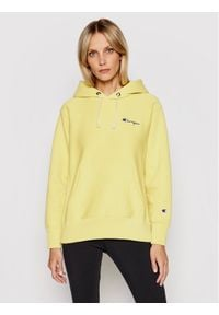 Champion Bluza Small Script Logo 113150 Żółty Regular Fit. Kolor: żółty