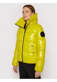 Save The Duck Kurtka puchowa D39370W LUCK13 Żółty Regular Fit. Kolor: żółty. Materiał: puch