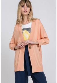 Pomarańczowy sweter Monnari casualowy, na co dzień