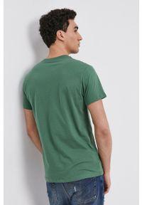 Pepe Jeans - T-shirt bawełniany Eggo. Kolor: zielony. Materiał: bawełna. Wzór: nadruk