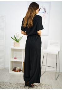 Czarny kombinezon LIGARI w paski, elegancki