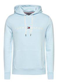 TOMMY HILFIGER - Tommy Hilfiger Bluza Logo Hoody MW0MW11599 Niebieski Regular Fit. Kolor: niebieski