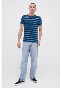 Tom Tailor - T-shirt bawełniany. Okazja: na co dzień. Kolor: niebieski. Materiał: bawełna. Styl: casual