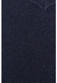 Niebieski sweter medicine z długim rękawem, casualowy, długi