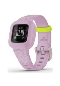 Różowy zegarek GARMIN smartwatch, casualowy