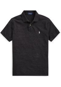 Ralph Lauren - RALPH LAUREN - Koszulka polo Slim Fit. Typ kołnierza: polo. Kolor: czarny. Materiał: bawełna, prążkowany. Wzór: haft #4