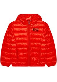 Czerwona kurtka puchowa EA7 Emporio Armani