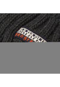 Napapijri - Czapka NAPAPIJRI - Fea NP0A4EMC Dark Grey Melange 197. Kolor: szary. Materiał: materiał, wełna, akryl, wiskoza, poliamid