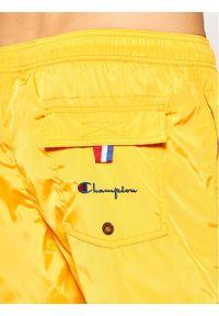 Champion Szorty kąpielowe Small C Logo Swim 214453 Żółty Regular Fit. Kolor: żółty #3