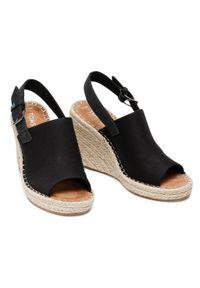 Czarne sandały Toms