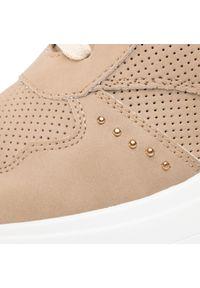 Jenny Fairy - Sneakersy JENNY FAIRY - WYL2079-2 Beige. Okazja: na co dzień. Kolor: beżowy. Materiał: skóra ekologiczna, materiał. Szerokość cholewki: normalna. Wzór: aplikacja. Styl: casual