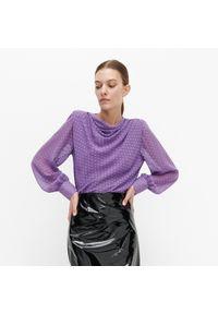 Fioletowa bluzka Reserved elegancka