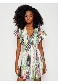 Guess Sukienka letnia W1RK0B W70Q0 Kolorowy Slim Fit. Wzór: kolorowy. Sezon: lato
