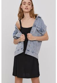 Volcom - Sukienka. Kolor: czarny. Materiał: dzianina. Długość rękawa: na ramiączkach. Wzór: gładki. Typ sukienki: rozkloszowane