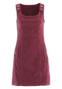 Czerwona sukienka bonprix na ramiączkach