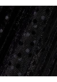 ZIMMERMANN - Czarna sukienka w delikatne kropki. Kolor: czarny. Wzór: kropki. Styl: elegancki. Długość: midi