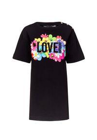 Czarna sukienka Love Moschino mini, casualowa, na co dzień, prosta