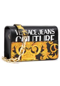 Versace Jeans Couture - Torebka VERSACE JEANS COUTURE - E1VWABG5 71727 M27. Kolor: czarny. Materiał: skórzane. Styl: elegancki
