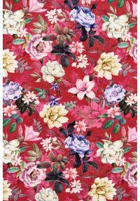 Marie Zélie - Sukienka Emelina Mirus czerwona krótki rękaw. Kolor: czerwony. Materiał: wiskoza, dzianina, materiał, elastan, tkanina, guma. Długość rękawa: krótki rękaw. Styl: klasyczny. Długość: midi
