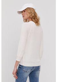 Vero Moda - Sweter. Okazja: na co dzień. Kolor: biały. Materiał: dzianina. Długość rękawa: raglanowy rękaw. Styl: casual